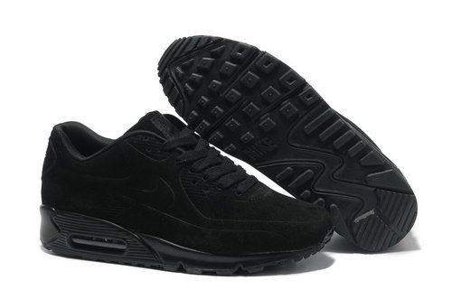 Nike Air Max 90 Vt Men All Black Running Shoes Portugal