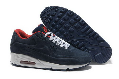 Nike Air Max 90 Vt Mens Shoes Premium Dark Obsidian White Red Cheap