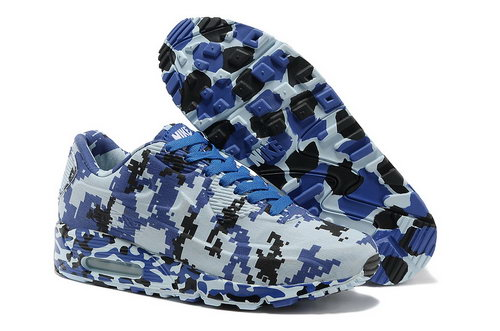 Nike Air Max 90 Vt Unisex Colorful Blue Black Running Shoes For Sale