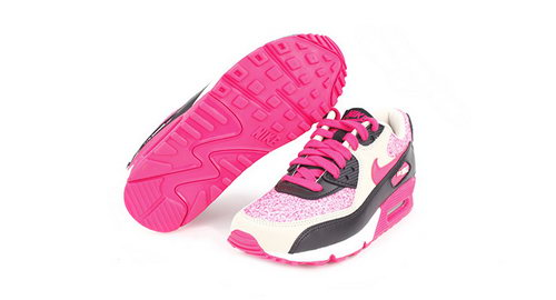 Nike Air Max 90 Women Pink Black Running Shoes Sweden