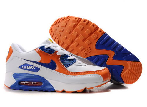 Nike Air Max 90 Womens Blue White Orange Switzerland