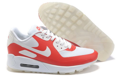 Nike Air Max 90 Womens White Red Reduced