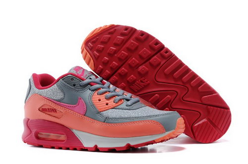Nike Air Max 90 Womenss Shoe Silver New Ornge Red Norway