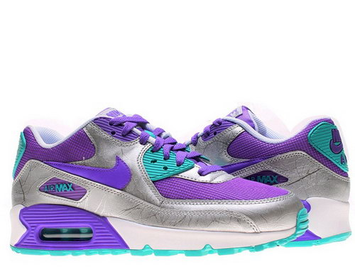 Nike Air Max 90 Womenss Shoe Silver New Purple Special Online Shop