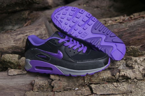Nike Air Max 90 Womenss Shoes Black Purple Hot New For Sale