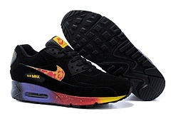 Nike Air Max 90 Womenss Shoes Black Purple Mago Red New Online Store