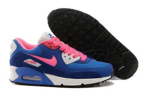 Nike Air Max 90 Womenss Shoes Dark Blue Pink White Special Czech