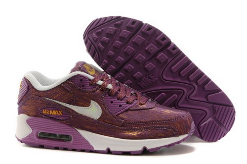 Nike Air Max 90 Womenss Shoes Dark Purple White Hot On Sale Netherlands