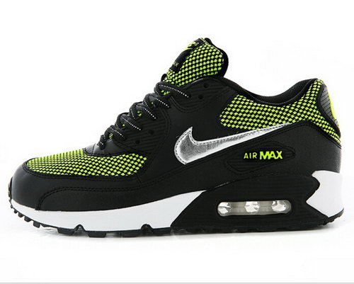 Nike Air Max 90 Womenss Shoes Hot Green Black Special Factory Store