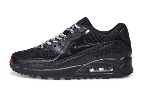 Nike Air Max 90 Womenss Shoes Hot New All Black Gray Outlet Online