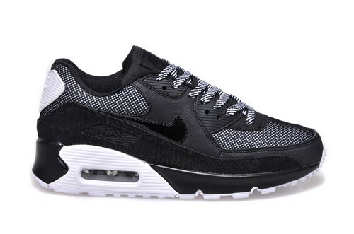 Nike Air Max 90 Womenss Shoes Hot New All Black White Gray China