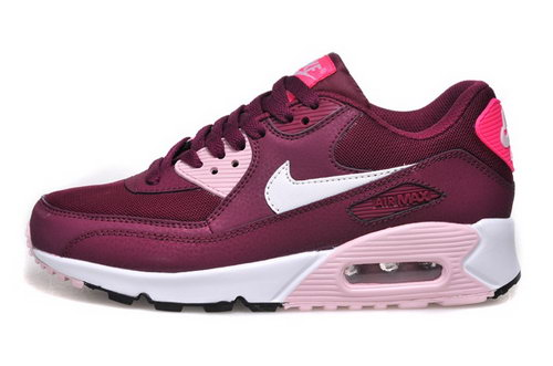 Nike Air Max 90 Womenss Shoes Hot New Rose Red White Online