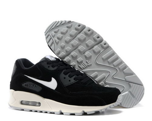 Nike Air Max 90 Womenss Shoes Hot On Sale Black White Taiwan