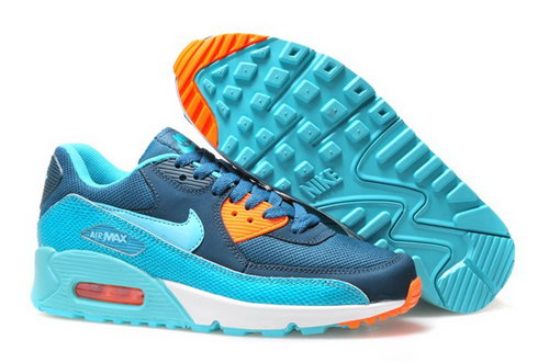 Nike Air Max 90 Womenss Shoes Hot On Sale Blue Ky Blue Orange Norway