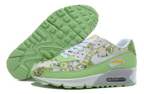 Nike Air Max 90 Womenss Shoes New White Green For Sale