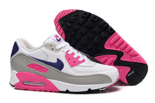 Nike Air Max 90 Womenss Shoes New White Pink Grey Online Store