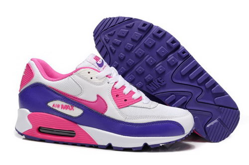 Nike Air Max 90 Womenss Shoes New White Pink Purple Portugal