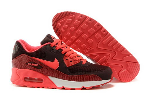 Nike Air Max 90 Womenss Shoes Red Black Hot Special Korea