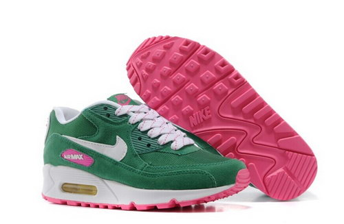 Nike Air Max 90 Womenss Shoes Rose Red Green White Special Closeout