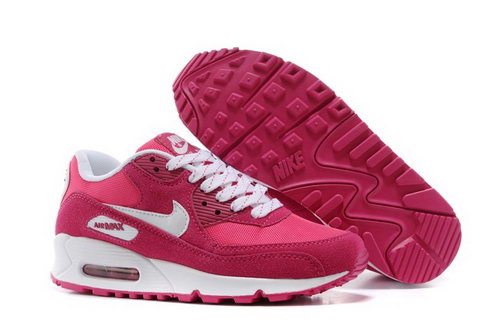 Nike Air Max 90 Womenss Shoes Rose Red White Hot Czech