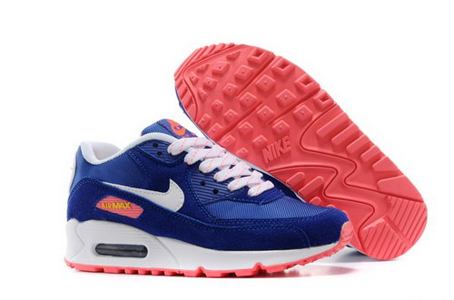 Nike Air Max 90 Womenss Shoes Rose Royal Blue White Orange Netherlands