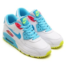 Nike Air Max 90 Womenss Shoes Special Hot White Sky Blue Yellow Pink Low Cost