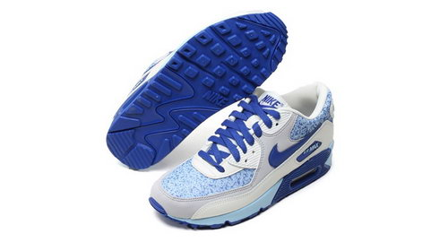 Nike Air Max 90 Womenss Shoes White Blue Best Price