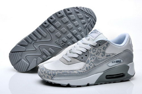 Nike Air Max 90 Womenss Shoes White Siler New Discount