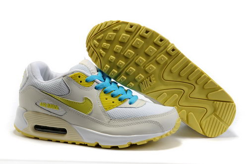 Nike Air Max 90 Womenss Shoes Wholesale Beige White Yellow