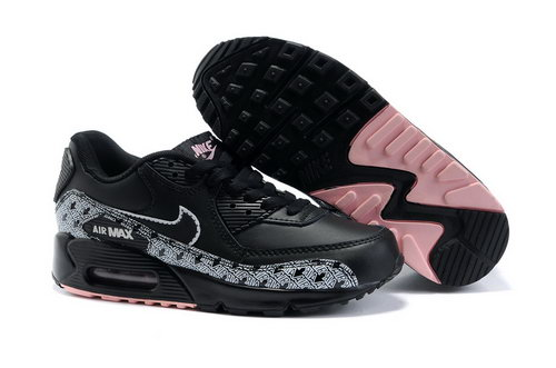 Nike Air Max 90 Womenss Shoes Wholesale Black White Reduced
