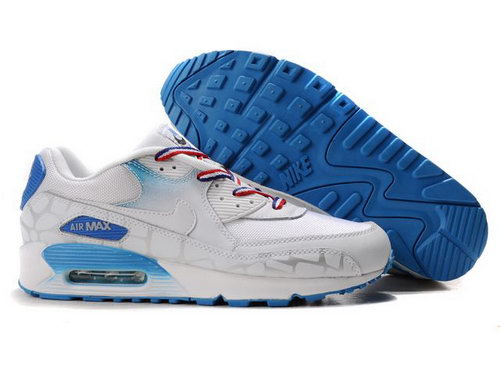 Nike Air Max 90 Womenss Shoes Wholesale Deepskyblue White Norway