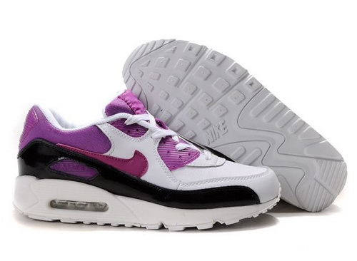 Nike Air Max 90 Womenss Shoes Wholesale Purple Black White Factory
