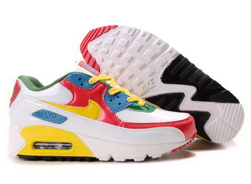 Nike Air Max 90 Womenss Shoes Wholesale Red White Yellow Blue Green Uk