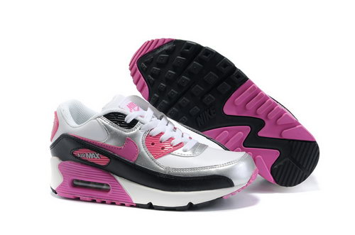 Nike Air Max 90 Womenss Shoes Wholesale Slivery Pink Black White Coupon Code