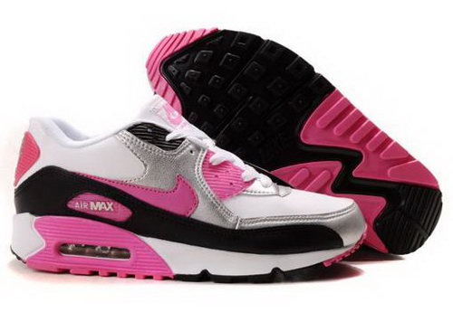 Nike Air Max 90 Womenss Shoes Wholesale White Black Red For Sale