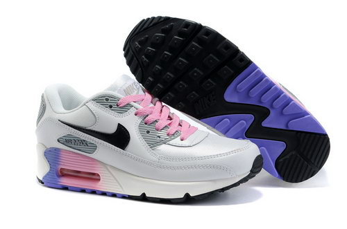 Nike Air Max 90 Womenss Shoes Wholesale White Gray Pink Black Japan