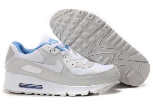 Nike Air Max 90 Womenss Shoes Wholesale White Gray Usa