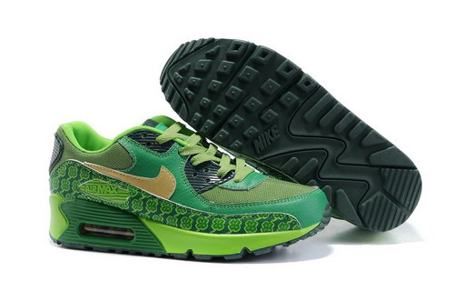 Nike Air Max 90 Womenss Shoes Wholesale Yellow Emeraldgreen Black Switzerland