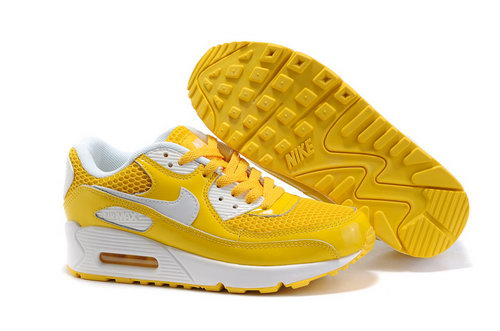 Nike Air Max 90 Womenss Shoes Wholesale Yellow White Netherlands