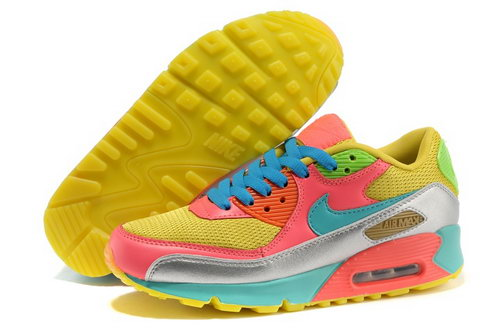 Nike Air Max 90 Womenss Shoes Yellow Blue Best Price