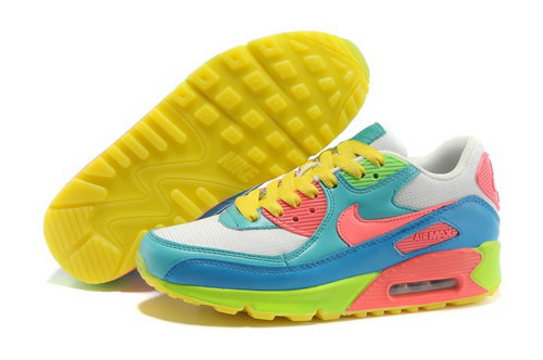 Nike Air Max 90 Womenss Shoes Yellow Green Discount Code