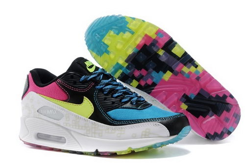Nike Air Max 90 Menss Shoes Colored Black Blue Yellow New Reduced