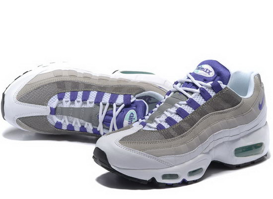 Nike Air Max 95 20th Anniversary Grey White Purple 40-46 Norway
