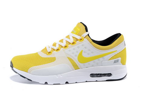 Nike Air Max Zero Women & Mens Unisex White Yellow On Sale