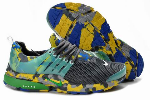 Nike Air Presto Camouflage Mens Grey Green Yellow Uk