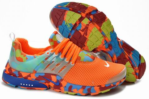 Nike Air Presto Camouflage Mens Orange Blue Poland