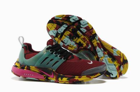 Nike Air Presto Camouflage Womens Wine Red Black Pink Discount