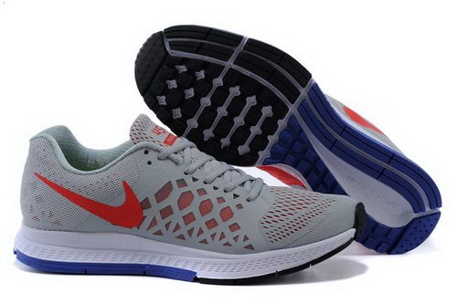 Nike Air Zoom Pegasus 31 Lunar Mens Shoes Gray Red Blue Sale