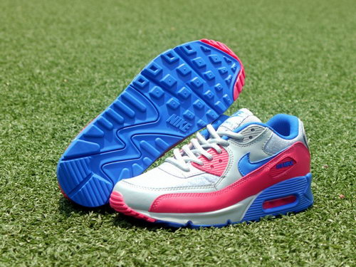Nike Air Max 90 Womenss Shoes New Special Colored Silver Blue Pink Poland