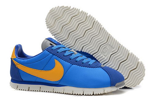 Nike Classic Cortez Nm Qs Womens Shoes Blue Yellow Online Store